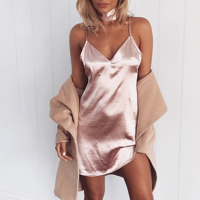 Silk Dress | Dusty Pink   WWW.MURABOUTIQUE.COM.AU #muraboutique