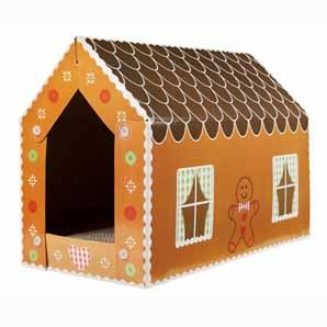 PuRRFect for Christmas time ~ Gingerbread Cat Scratcher House by Pets at Home