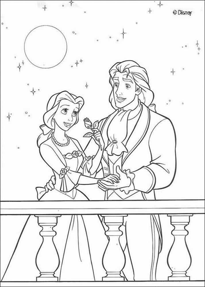 Beauty And The Beast Coloring Page 35 Is A From BookLet Your Children Express Their Imagination When They Color