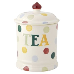 Seconds Polka Dot Text Tea Storage Jar