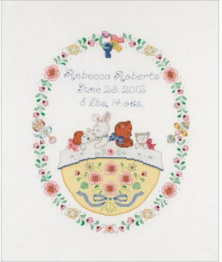 Baby Birth Announcements - Cross Stitch Patterns & Kits (Page 3) - 123Stitch.com