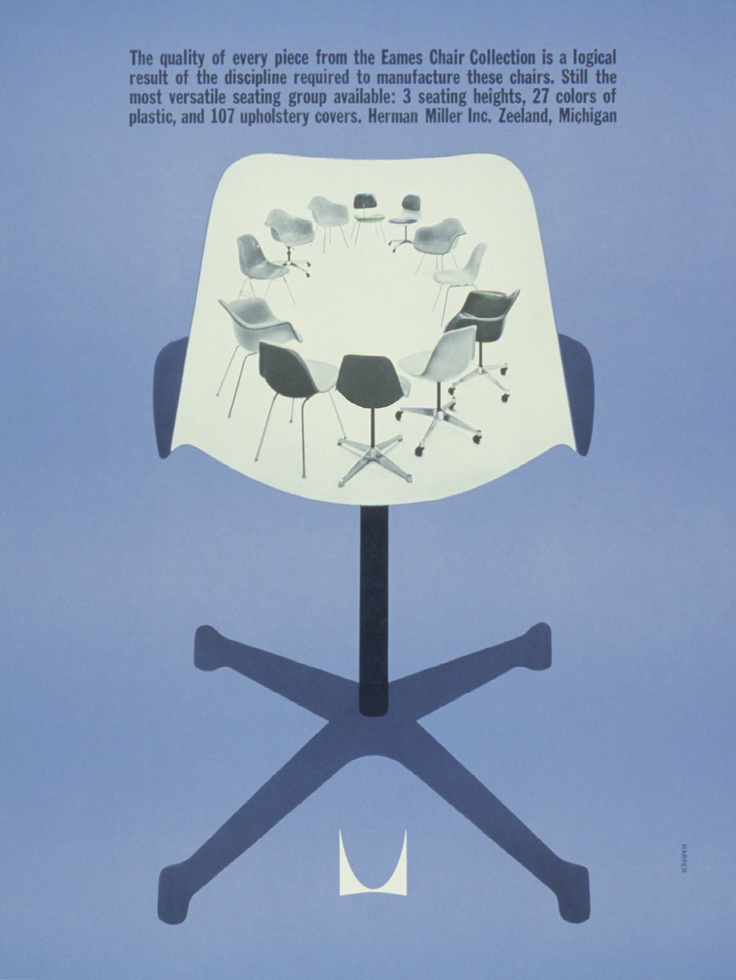 Quality of an Eames Chair, 1961: Eames Chairs, Design Legends, Magazines Noticed, Graphics Design, Magazines Ads, Business Design, Chairs Adverti, Miller Logos, Herman Miller