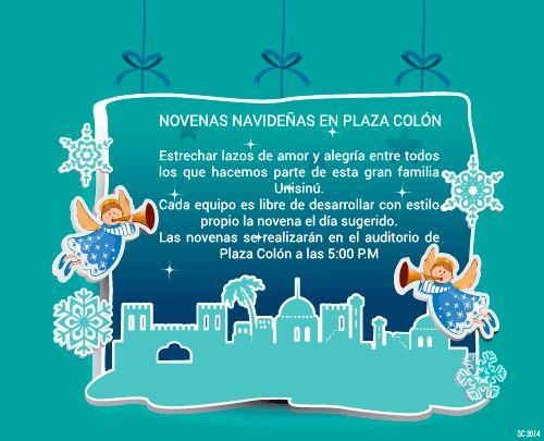 Tarjeta animada, invitación novenas Universidad del Sinú 2014