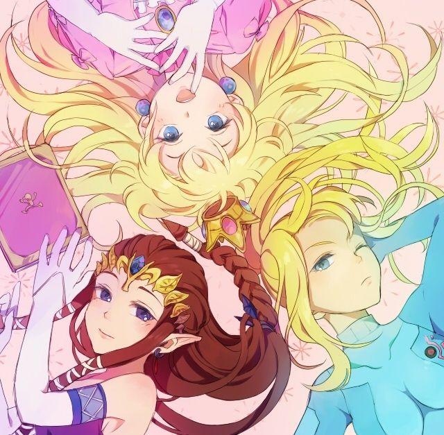 This pretty anime wallpaper shows samus zelda and peach for Pretty princess wallpaper