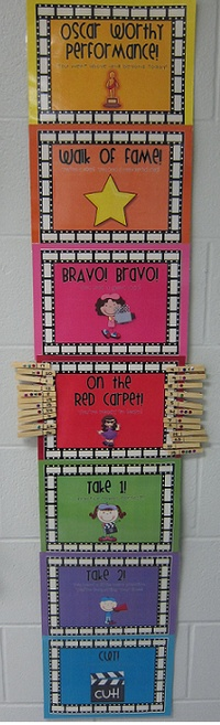 Red carpet behaviour management chart