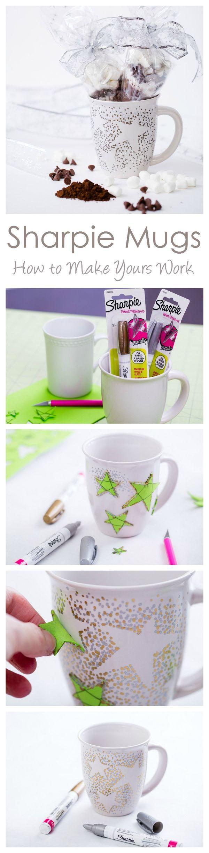 Sharpie Mugs That Work! (And a Homemade Hot Chocolate Mix) --  Sharpie Mug with Oil Based Sharpies