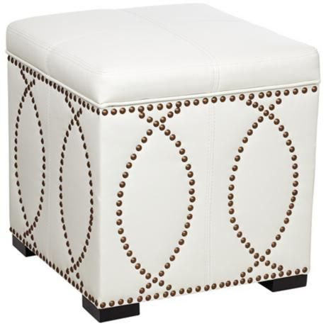 Bel Aire Vanilla Storage Ottoman For Your Bedroom Chair