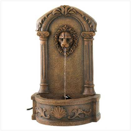Lions Head Courtyard Fountain Manufacturer: Home Locomotion SBEX13055 $96.95
