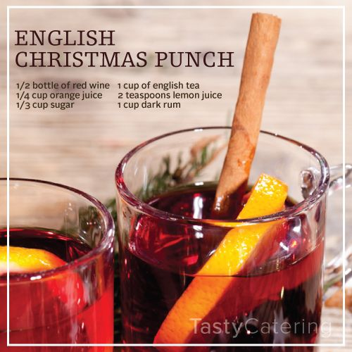 English Christmas Punch. Heat Together A ½ Bottle Of Red