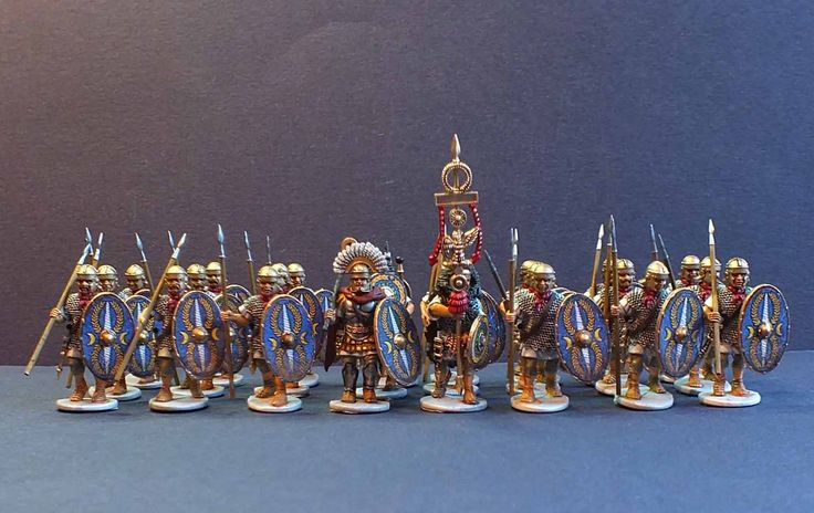 Early Imperial Roman Auxiliary Infantry. Constructed and painted by Bob Hornsby