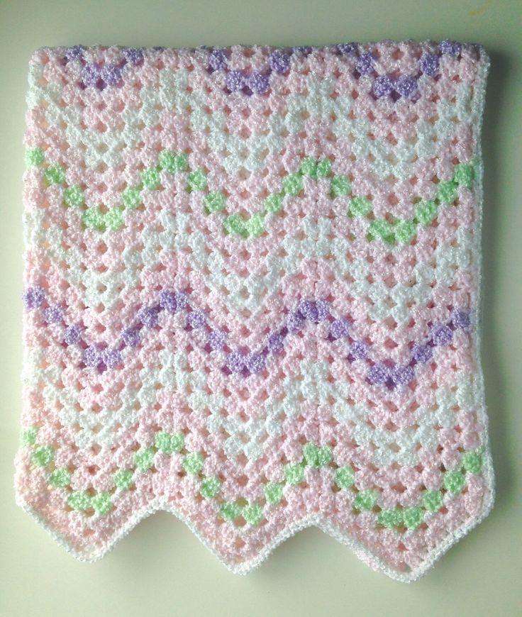 Pink pastels chevron baby blanket; baby shower gift; newborn baby girl gift, crochet blanket easter baby blanket by BabyBunnies4 on Etsy https://www.etsy.com/listing/259601664/pink-pastels-chevron-baby-blanket-baby  Sweet baby blanket