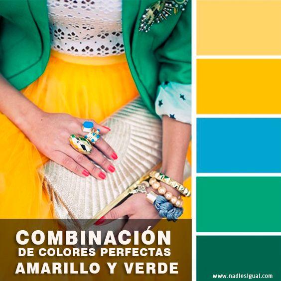 La combinación de colores #perfectas en tus #outfits es algo fundamental que toda mujer debe saber #Amarillo #Verde #nadiesigual Encuentra mas Tips en nuestra web que está mas abajo.
