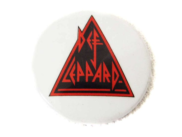 Def Leppard Pin 1983 Pinback Metal Button Round Pin 1980's Heavy Metal Hard Rock Music Big Hair Band Metal Pin Hysteria by CollectionSelection on Etsy