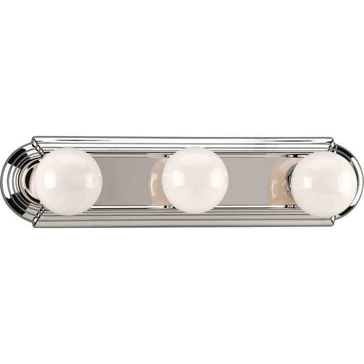 Progress Lighting 3-Light 4.5-in Chrome Rectangle Vanity Light