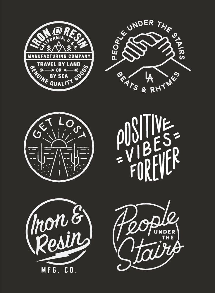 Badge Designs By Wildwood Design Co Badges Design Typography Inspiration Vintage Americana Graphic Graphic Design Logo Vintage Logo Design Badge Design