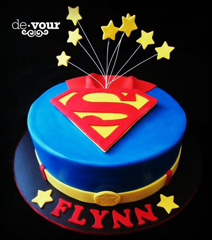 Superman cake, superhero cake, birthday cake for boys  @Melissa Meadows - i could do a logo, cape and belt...