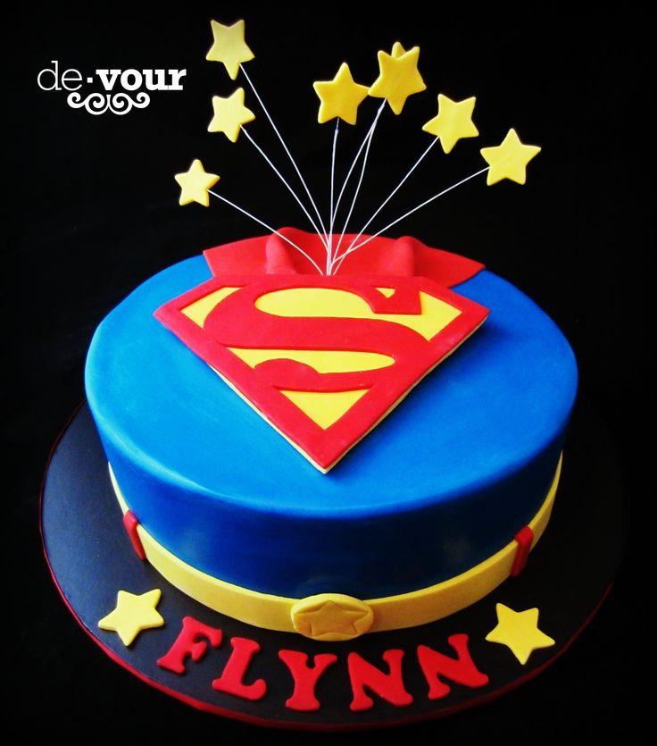 Superman cake, superhero cake, birthday cake for boys