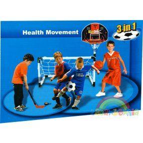 Venkovní aktivity :: Sportovní potřeby :: Míčové hry :: Set her 3v1 - Basketbal, Fotbal, Hokej -