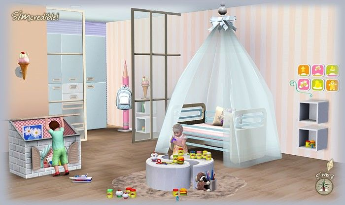Cool Room Ideas Sims 3 | ... simcredible designs little wonders kids room at simcredible designs