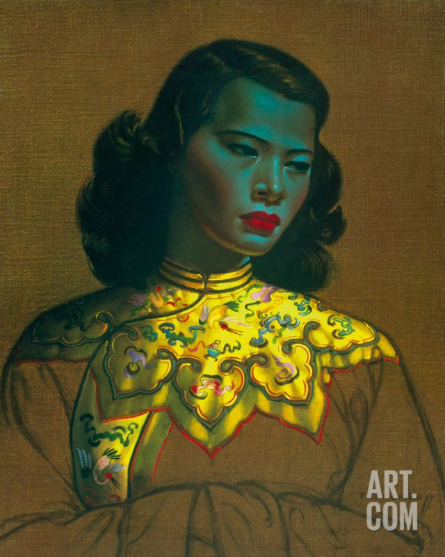 Want! Chinese Girl Giclee Poster Print by Vladimir Tretchikoff, 16x20