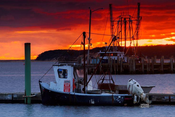 Golden red sunset Tonight at Wellfleet Harbor. Dapixara photography https://dapixara.com