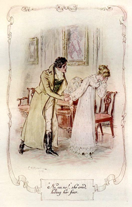 """""""No, no, no!,"""" she cried, hiding her face - Mansfield Park, 1908. Jane Austen"""