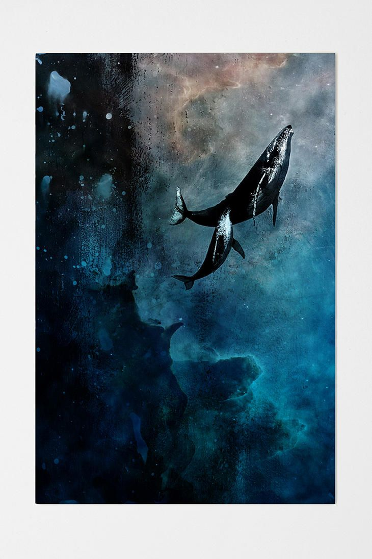 alex cherry flying whales art design painting art