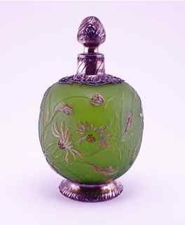 c1900 Galle Cameo Glass Perfume Bottle posted via liveauctioneers.com