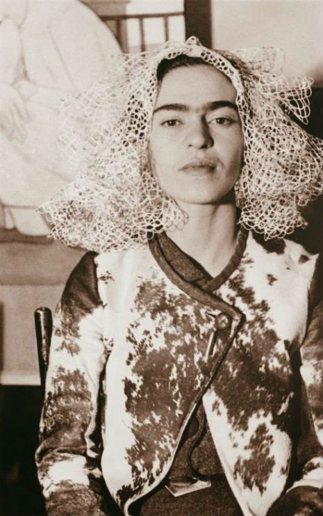 Frida Kahlo in the artist's studio by Manuel Alvarez Bravo, 1932  I'm posting these gorgeous B&W portraits of Mexican artist  Frida Kahlo because A) they're all simply wonderful and B) there's never enough Frida as far as I'm concerned.  Enjoy!   Frida Kahlo by Lucienne Bloch, 1933   Frida Kahlo by Lucienne Bloch, 1935   Frida Kahlo by Lola Alvarez Bravo, 1944   1932. Photograph by W.J. Stettler   Frida Kahlo by Leo Matiz, 1946   Frida Kahlo by Leo Matiz, 1941   1937   Frida Kahlo…