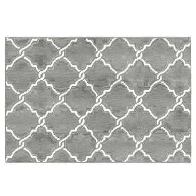 "Jean Pierre Yohan Loop Gray/Soft White Area Rug Rug Size: 2'4"" x 4'"