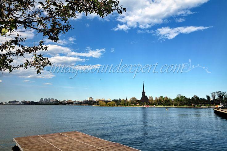 landscape tabacarie lake saint mina church