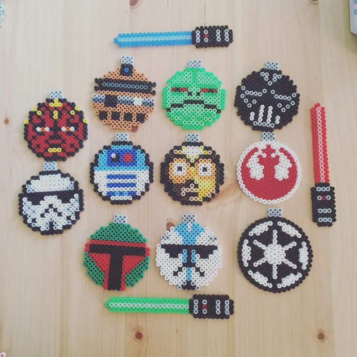 Star Wars Christmas ornaments perler beads by  imakeperlersoidontkillpeople