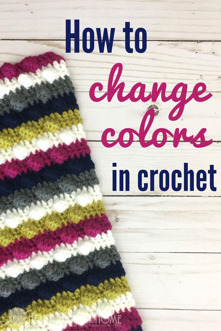How to Change Colors in Crochet http://hearthookhome.com/how-to-change-colors-in-crochet/?utm_campaign=coschedule&utm_source=pinterest&utm_medium=Ashlea%20K%20-%20Heart%2C%20Hook%2C%20Home&utm_content=How%20to%20Change%20Colors%20in%20Crochet