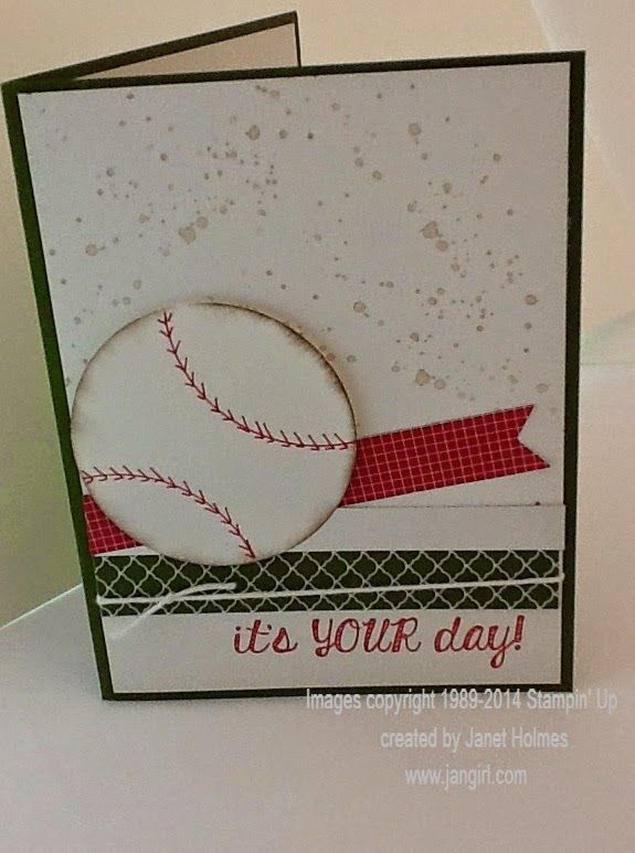 119 best cards sports images on pinterest jan girl stampin up fabulous four softball birthday card m4hsunfo