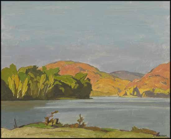 Alfred Joseph (A.J.) Casson - Ten Mile Bay 12 x 15 oil on board