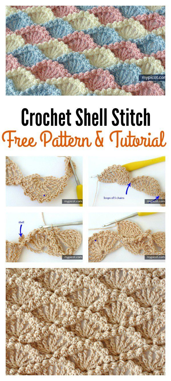 Crochet Shell Stitch Free Pattern and Tutorial