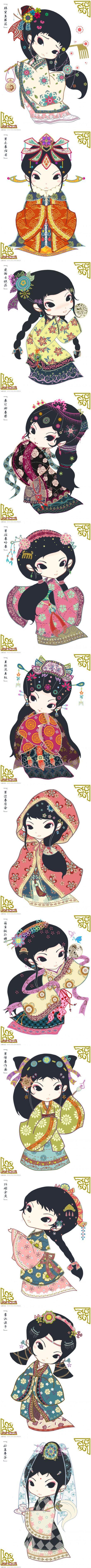 ACTIVITE - Chinoises pour embellir du papier, un lapbook, une carte postale...