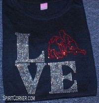 Love Wrestling Rhinestone Design 1.....  They really do make this shirt.  Holy moley