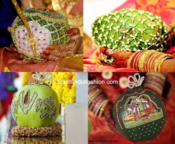 Coconut Decoration with stones