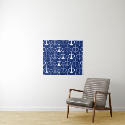 Fun Anchor Pattern Tapestry - fun gifts funny diy customize personal