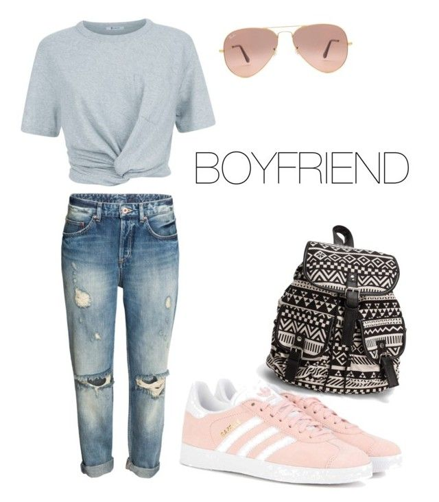 """""""BOYFRIEND #2"""" by flobetty on Polyvore featuring Mode, T By Alexander Wang, adidas Originals, Ray-Ban und NLY Accessories"""