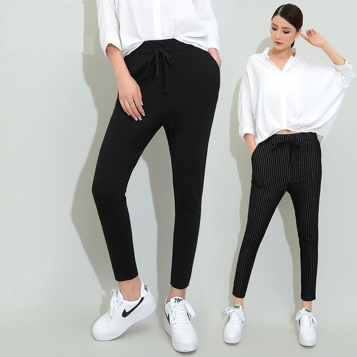 New Autumn black women pants female harem pants female pantyhose thin section feet pants waist trousers casual pants sweatpants-in Pants & Capris from Women's Clothing & Accessories on Aliexpress.com | Alibaba Group