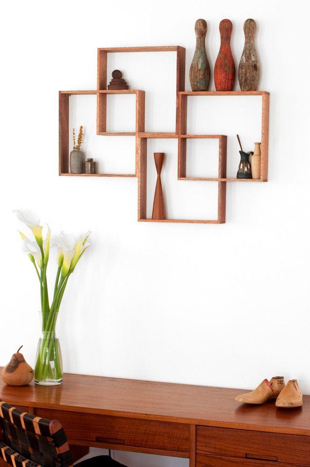 4 BOX SHADOW BOX / SHELF / DISPLAY CABINET by Senkki Furniture - Shelf, Shelves, Shelving, Display Cabinet, Retro, Mid Century, Shadow Box, Wall Art, Display Unit, Mid Century Modern