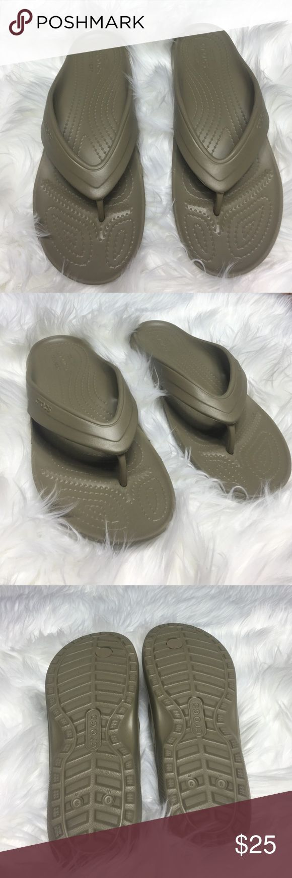 Women CROCS sandals!! Super comfy CROCS sandals! Like new no scratches or stains. Very lightweight and they look great on! Perfect for Spring!! CROCS Shoes Sandals