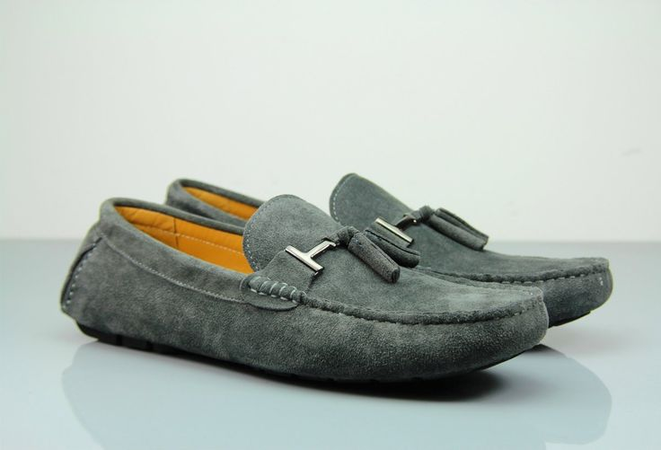 Looking for a Timeless Classic? Discover Our Traditional Fane Buckle Dark Grey Suede Loafers! #institchu #menswear #footwear #shoes #mensstyle