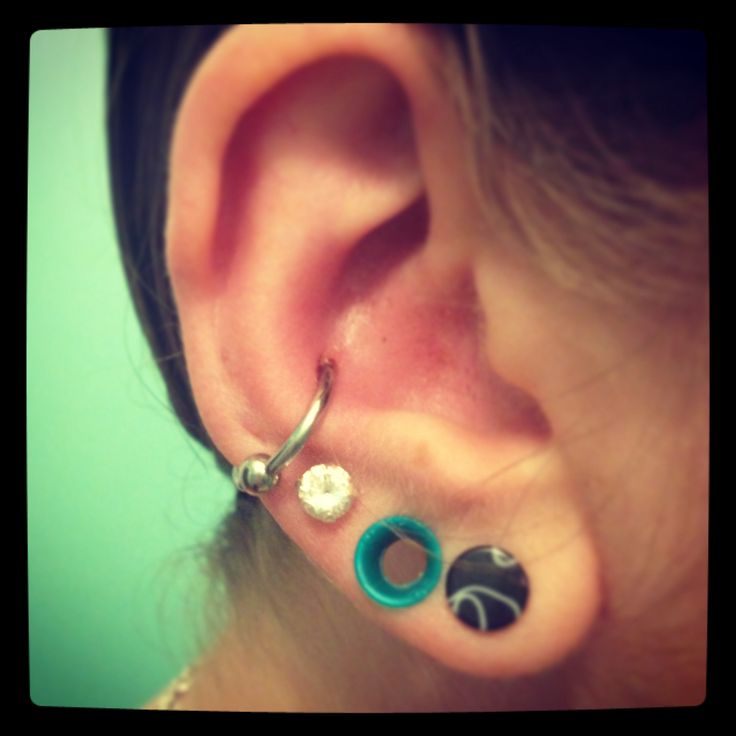 Conch Piercing And Gages