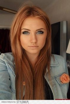 Strawberry Blonde hair. LOVE. I wish I could pull that off.