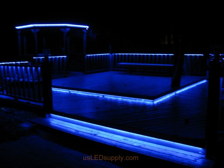 led deck lighting with rgb flexible led strips under railings and deck platforms - Led Stripes In Der Dusche