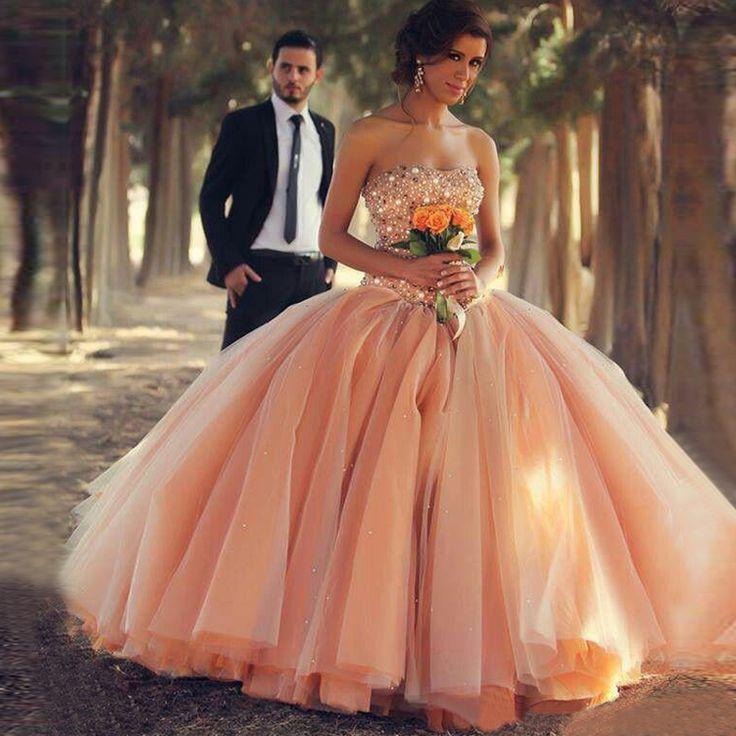 Bling Bling Kristall Strass Coral Langer Abschlussball Kleidet 2016 Schatz Luxus Arabisch Formale Partei Ballkleider Robe De Soiree //Price: $US $160.95 & FREE Shipping //     #cocktailkleider