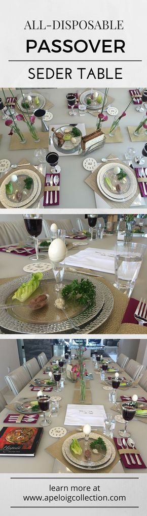 Make a Passover seder ALL disposable & 67 best Passover Table Settings images on Pinterest | Desk layout ...
